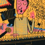 Man playing piano illustration