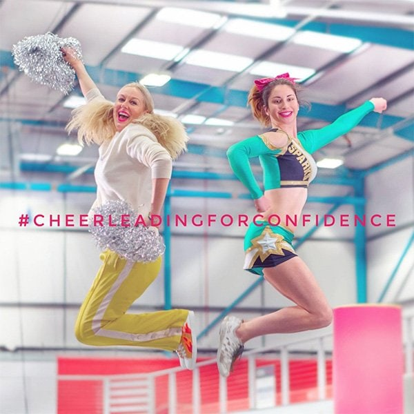 #CHEERLEADINGFORCONFIDENCE SOCIAL MEDIA CAMPAIGN